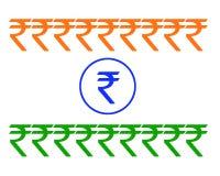 Bandeira da rupia Foto de Stock