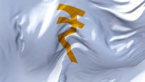 317 Bandeira da rupia indiana que acena no fundo sem emenda contínuo do laço do vento