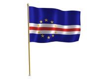 Bandeira da seda de Cabo Verde Foto de Stock Royalty Free