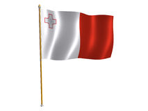 Bandeira da seda de Malta Fotografia de Stock