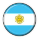 Bandeira da tecla de Argentina Fotografia de Stock