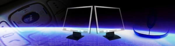 Bandeira da tecnologia do computador ilustração stock