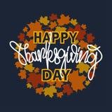 Bandeira da tipografia da ação de graças ` Feliz da ação de graças do ` para o cartão, o ícone da ação de graças ou o logotype Ro Imagem de Stock