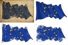 Bandeira da UE ilustração royalty free