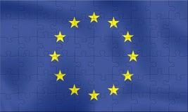 Bandeira da UE Fotografia de Stock Royalty Free
