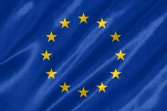 Bandeira da UE Europa ilustração do vetor