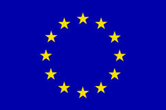 Bandeira da UE Europa Imagens de Stock Royalty Free