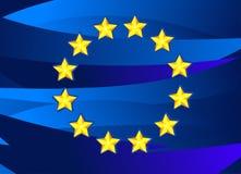 Bandeira da União Europeia. ilustração royalty free