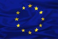 Bandeira da União Europeia ilustração royalty free