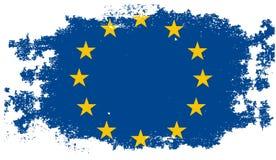 Bandeira da União Europeia do Grunge ilustração do vetor