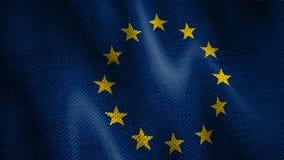 Bandeira da União Europeia de serapilheira vídeos de arquivo