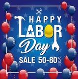 Bandeira da venda do Dia do Trabalhador Imagem de Stock