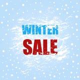 Bandeira da venda do inverno com escova ilustração stock