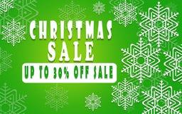 Bandeira da venda do Natal para a brochura 30%, inseto do feriado, cartaz, anunciando o logotipo, folheto para o projeto do molde Foto de Stock