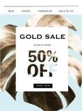Bandeira da venda do ouro imagens de stock royalty free