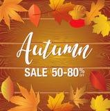 Bandeira da venda do outono Fotos de Stock