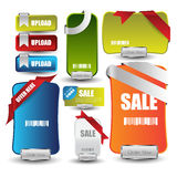 Bandeira da venda ou do disconto da Web para a Web com botões Fotografia de Stock Royalty Free