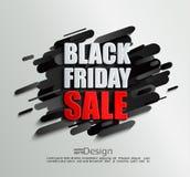 Bandeira da venda para sexta-feira preta no fundo dinâmico Ilustração Stock