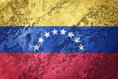 Bandeira da Venezuela do Grunge Bandeira da Venezuela com textura do grunge fotos de stock royalty free