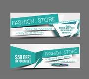 Bandeira da Web da loja da forma Imagens de Stock