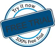 Bandeira da Web da versão de avaliação gratuita Imagens de Stock Royalty Free