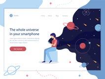 Bandeira da Web do dispositivo do espaço ilustração stock