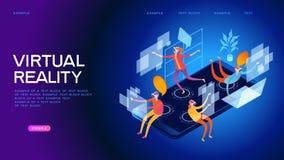 Bandeira da Web do mundo da realidade virtual ilustração do vetor