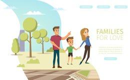 Bandeira da Web do vetor da consulta das relações de família ilustração royalty free