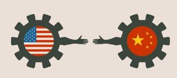 Bandeira da Web, molde da disposição do encabeçamento Relacionamento político e econômico entre EUA e Cuba Fotos de Stock