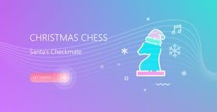 Bandeira da xadrez do Natal ilustração royalty free