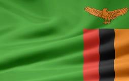 Bandeira da Zâmbia Imagens de Stock
