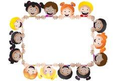 Bandeira das crianças multinacionais Fotos de Stock