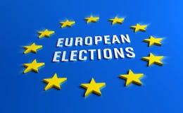 Bandeira das eleições europeias ilustração stock