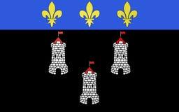 Bandeira das excursões, França foto de stock royalty free