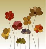Bandeira das flores Background ilustração do vetor