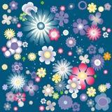 Bandeira das flores Background Fotos de Stock Royalty Free