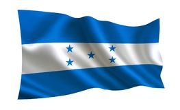 Bandeira das Honduras Uma série de bandeiras do ` do mundo ` O país - as Honduras embandeiram Imagens de Stock Royalty Free
