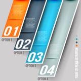 Bandeira das opções do estilo do origâmi Imagens de Stock Royalty Free