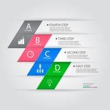 Bandeira das opções do estilo do origâmi do steb do negócio Ilustração do vetor Fotos de Stock Royalty Free