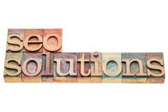 Bandeira das soluções de SEO Imagens de Stock Royalty Free