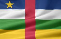 Bandeira de África central Fotografia de Stock