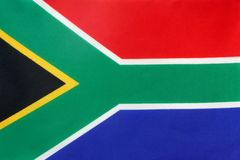 Bandeira de África do Sul Fotos de Stock Royalty Free