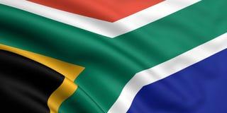 Bandeira de África do Sul Fotografia de Stock