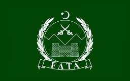 Bandeira de áreas tribais federalmente administradas, Paquistão ilustração royalty free