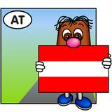A bandeira de Áustria Fotos de Stock Royalty Free