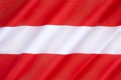 Bandeira de Áustria Foto de Stock