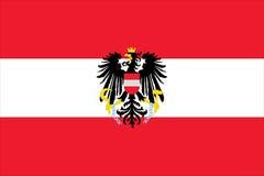 bandeira de Áustria ilustração stock