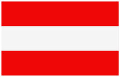 Bandeira de Áustria Imagens de Stock