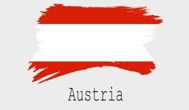 Bandeira de Áustria no fundo branco Foto de Stock
