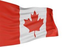 bandeira de 3D Canadá Imagens de Stock